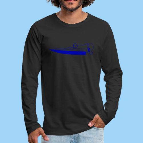 Powerboat GT30/GT15 Blue flip - Långärmad premium-T-shirt herr