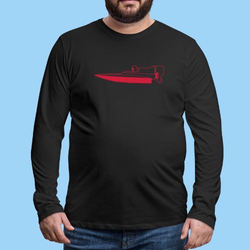 Powerboat GT30/GT15 RED Flip - Långärmad premium-T-shirt herr