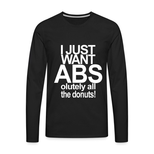 ABSolutely All the Donuts - Männer Premium Langarmshirt