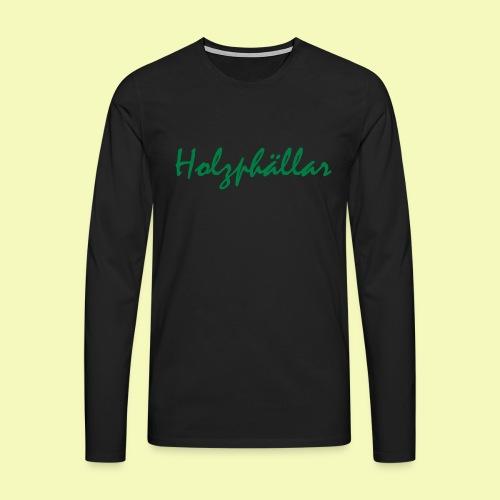 Schriftzug Grün - Männer Premium Langarmshirt