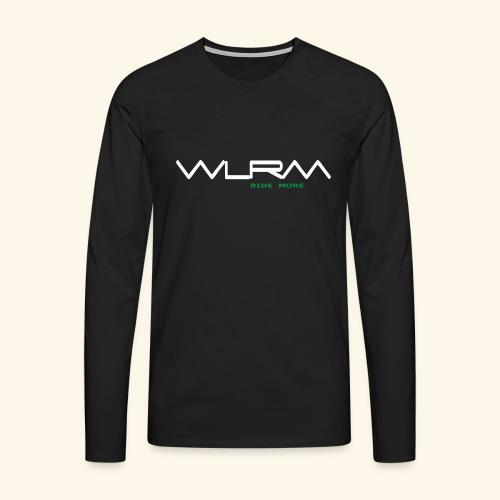 WLRM Schriftzug white png - Männer Premium Langarmshirt