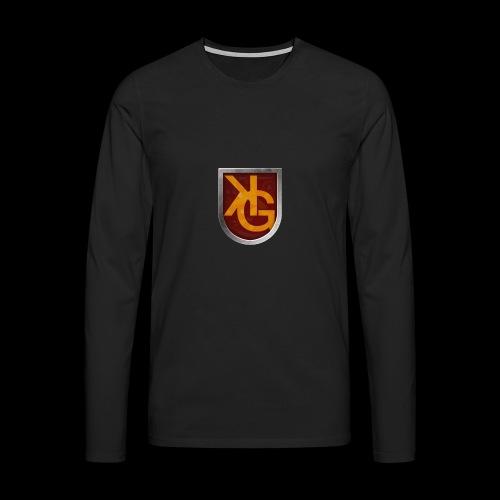 KG logo - Miesten premium pitkähihainen t-paita