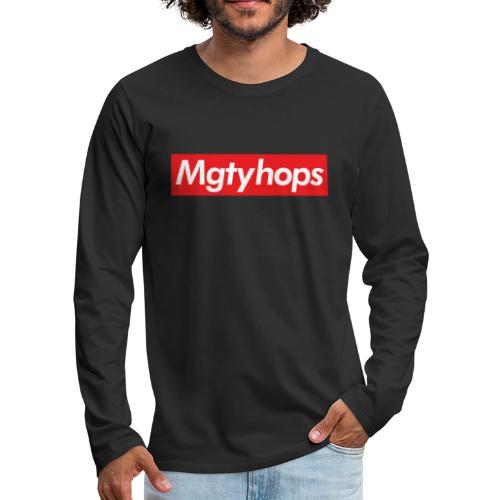 Mgtyhops Red bar - Långärmad premium-T-shirt herr