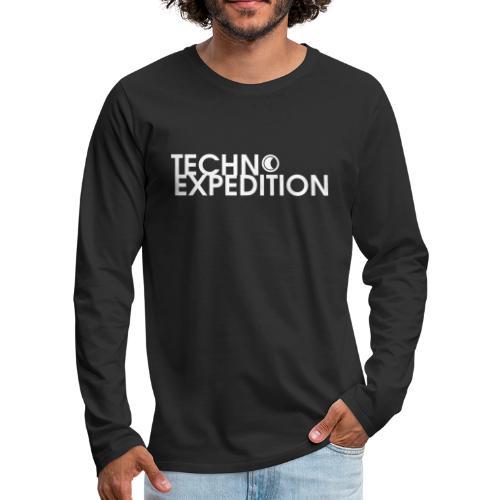 Logo Techno Expedition - Koszulka męska Premium z długim rękawem