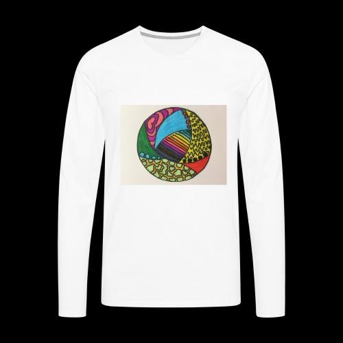 circle corlor - Herre premium T-shirt med lange ærmer