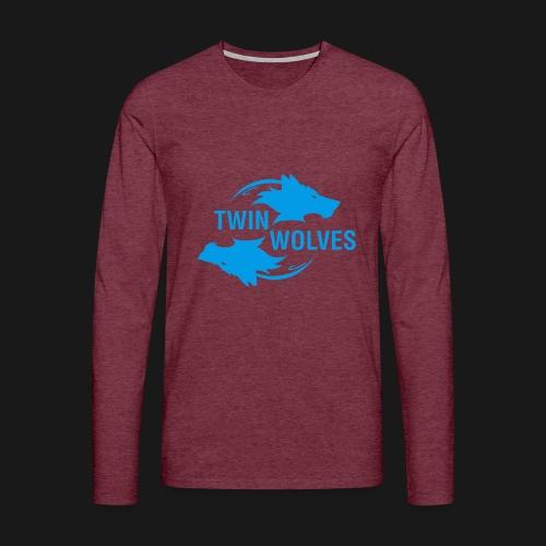Twin Wolves Studio - Maglietta Premium a manica lunga da uomo