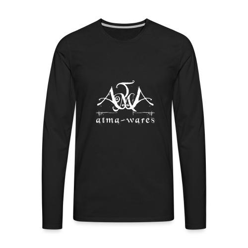atma wares logo white - Mannen Premium shirt met lange mouwen