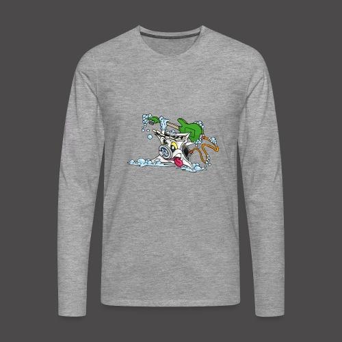 Wicked Washing Machine Wasmachine - Mannen Premium shirt met lange mouwen