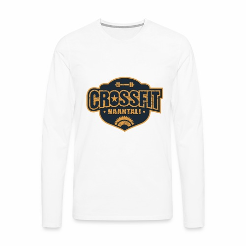 CF Naantalin Logo - Miesten premium pitkähihainen t-paita