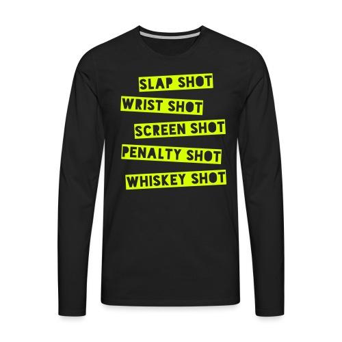 Hockey Shots - Men's Premium Longsleeve Shirt