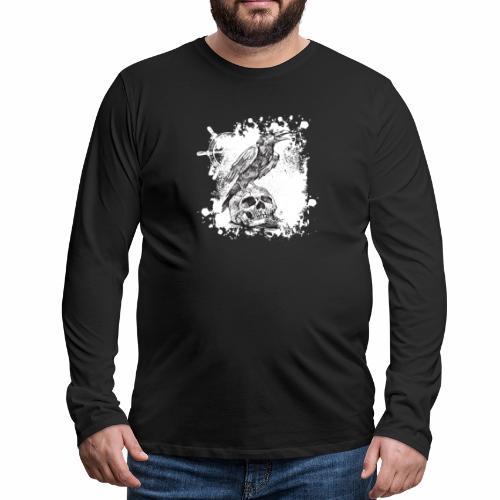 Raven - Miesten premium pitkähihainen t-paita