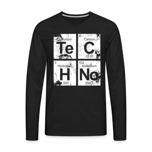 Dirty Techno Chemie - Männer Premium Langarmshirt
