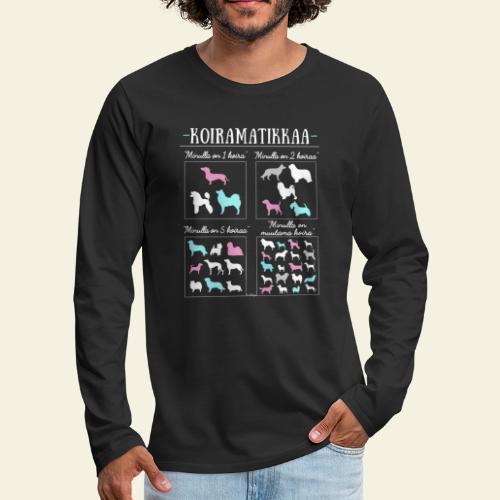 Koiramatikkaa II - Miesten premium pitkähihainen t-paita