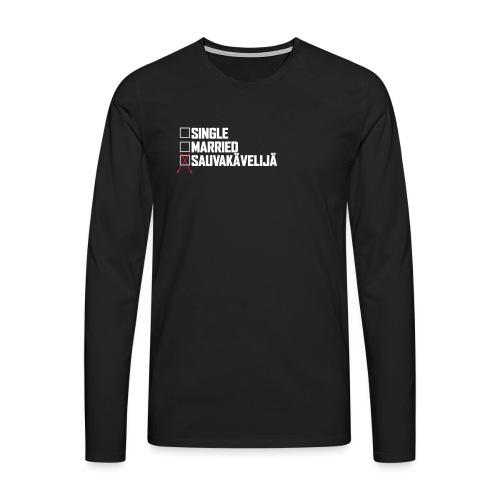 Sauvakävelijä - Miesten premium pitkähihainen t-paita