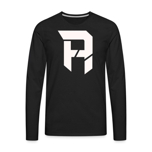 Armageddon Logo weiß transparent png - Männer Premium Langarmshirt