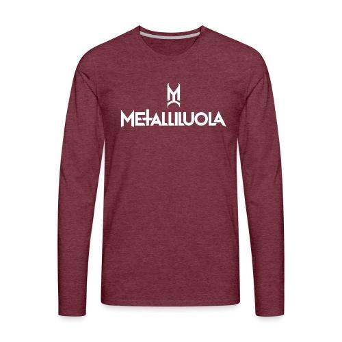 Metalliluola - Miesten premium pitkähihainen t-paita
