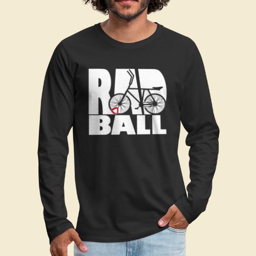 Radball   Typo - Männer Premium Langarmshirt
