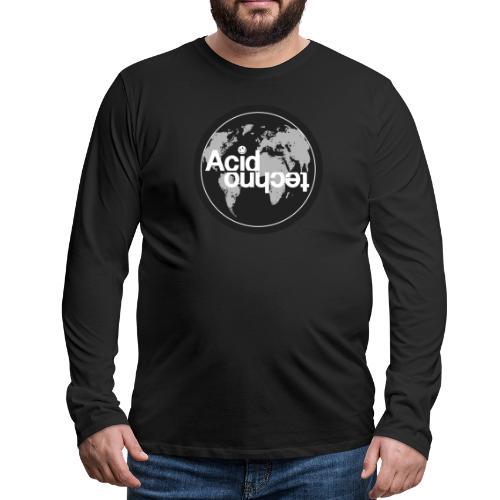 acid world clear - Koszulka męska Premium z długim rękawem