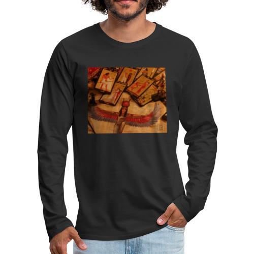 Tarocchi egizi - Maglietta Premium a manica lunga da uomo