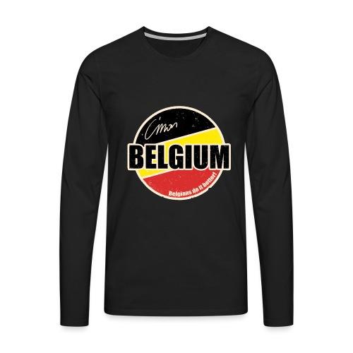 Cmon Belgium - Mannen Premium shirt met lange mouwen
