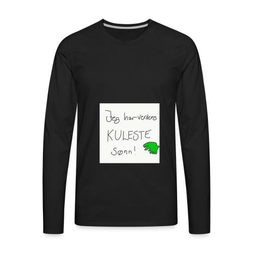 Kul sønn - Premium langermet T-skjorte for menn