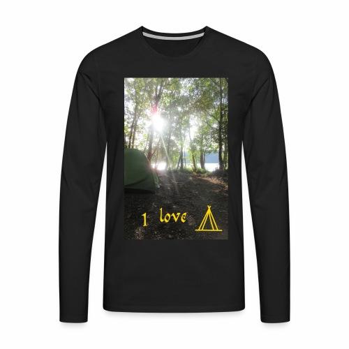 camping - Mannen Premium shirt met lange mouwen