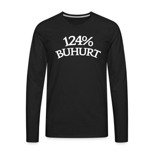 124 - Miesten premium pitkähihainen t-paita
