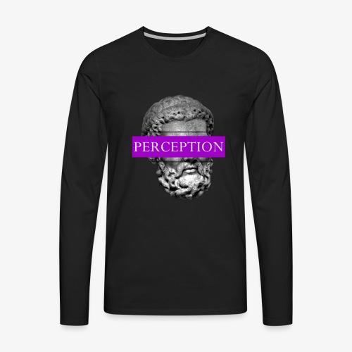 TETE GRECQ PURPLE - PERCEPTION CLOTHING - T-shirt manches longues Premium Homme