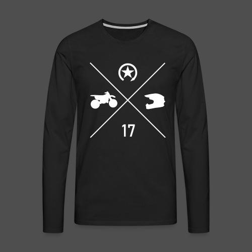 BIKE N HELMET 17 we - Men's Premium Longsleeve Shirt
