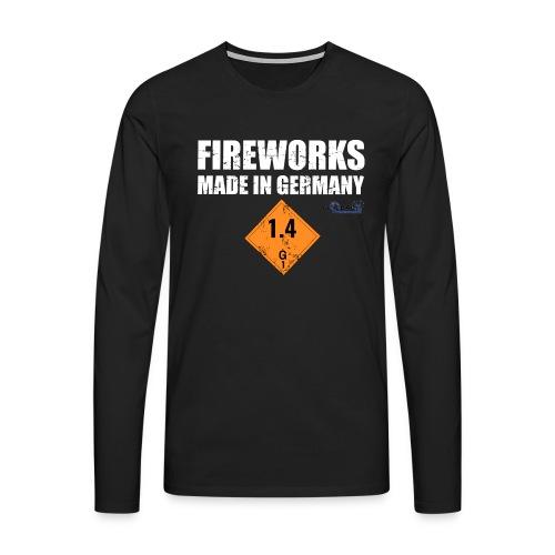 Feuerwerk aus Deutschland Pyrotechnik - Männer Premium Langarmshirt