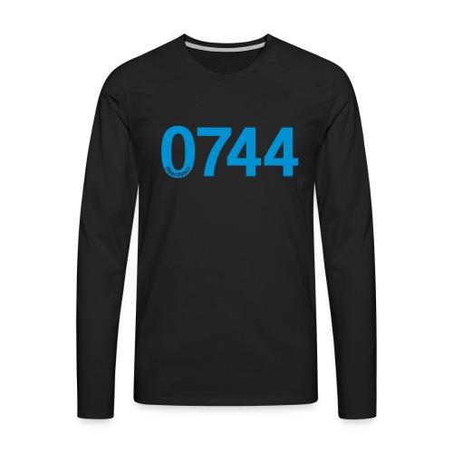 0744: Prefisso di Terni - Maglietta Premium a manica lunga da uomo