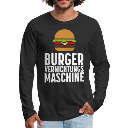 Burger Fanshirt Hamburger Grillen Burgerfreak - Männer Premium Langarmshirt