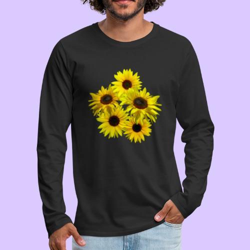 Sonnenblumenstrauss, Sonnenblume, Sonnenblumen - Männer Premium Langarmshirt