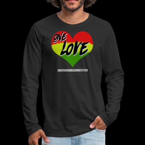 ONE LOVE - HEART - Männer Premium Langarmshirt