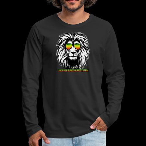 RASTA REGGAE LION - Männer Premium Langarmshirt