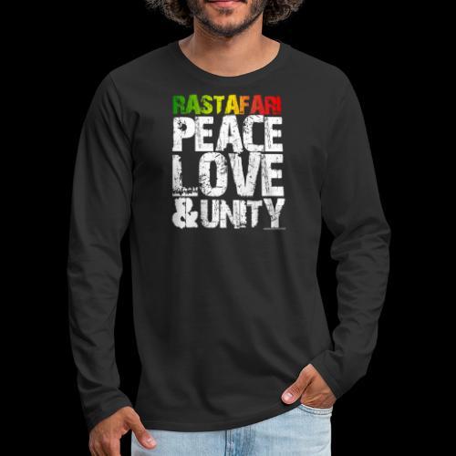RASTAFARI - PEACE LOVE & UNITY - Männer Premium Langarmshirt