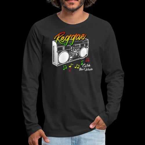 Reggae - Catch the Wave - Männer Premium Langarmshirt