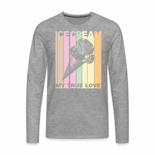 Ice Cream T-shirt Design im Vintage Look - Männer Premium Langarmshirt