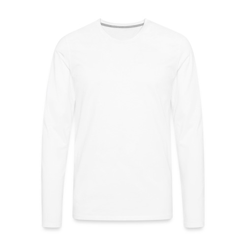 Bläkout -logo valkoinen - Miesten premium pitkähihainen t-paita