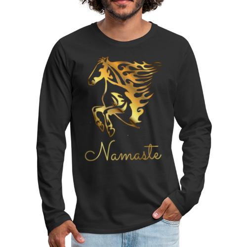 Namaste Horse On Fire - Männer Premium Langarmshirt