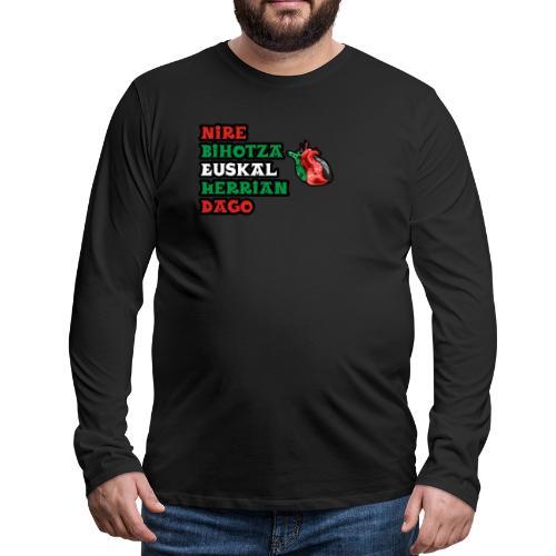 Bihotza - Camiseta de manga larga premium hombre