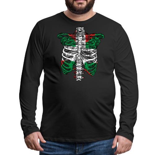 Basqueleton Grunge - Camiseta de manga larga premium hombre