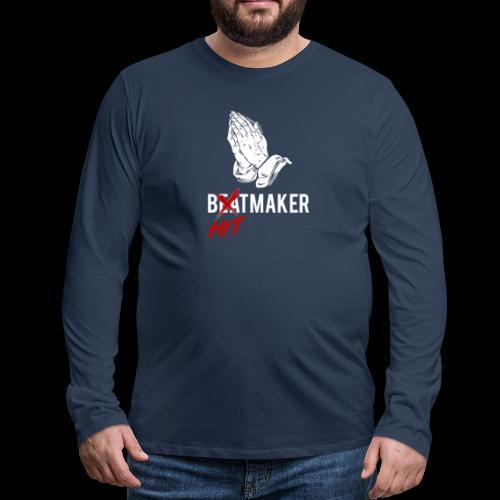 HitMaker Blanc - T-shirt manches longues Premium Homme