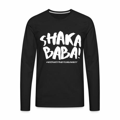 shaka - Miesten premium pitkähihainen t-paita