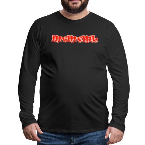 MvMvML logo - Mannen Premium shirt met lange mouwen