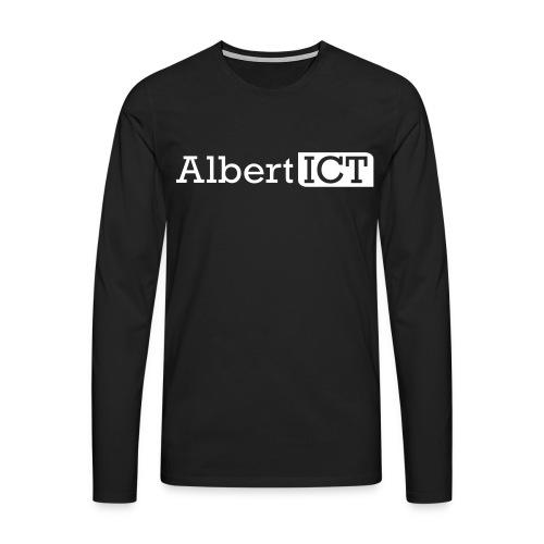 AlbertICT wit logo - Mannen Premium shirt met lange mouwen