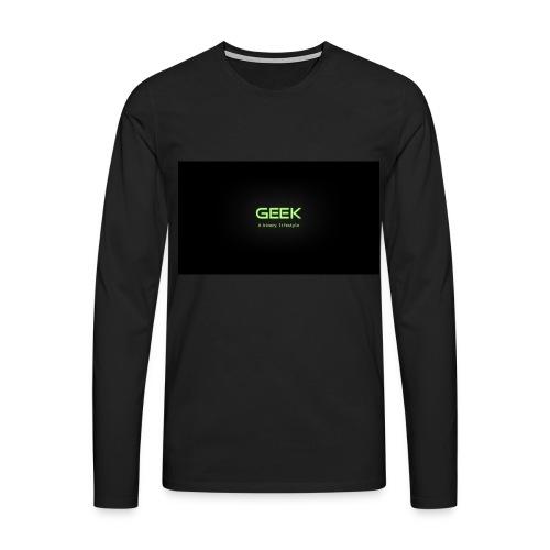 geek_binary_life_style - Camiseta de manga larga premium hombre