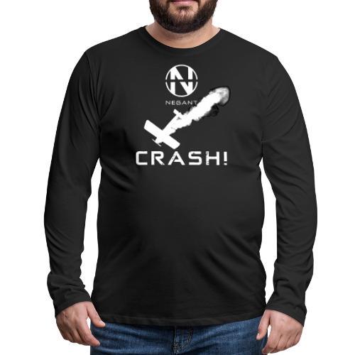 CRASH! + WE GO DOWN IN FLAMES! - Herre premium T-shirt med lange ærmer