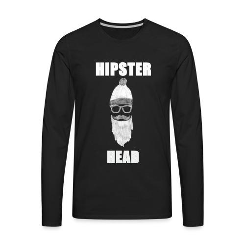 Hipster Head png - Männer Premium Langarmshirt