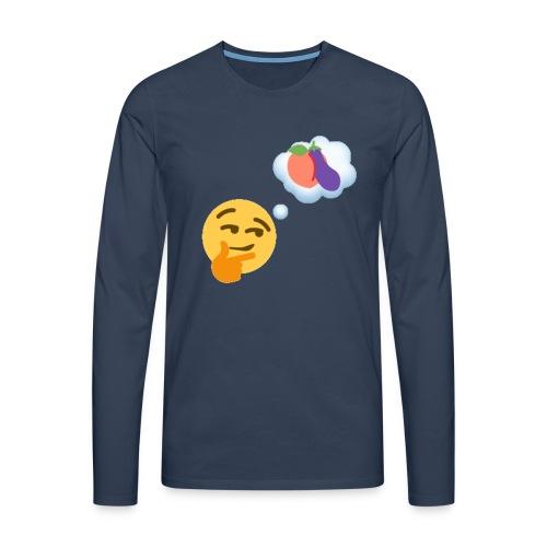 Johtaja98 Emoji - Miesten premium pitkähihainen t-paita